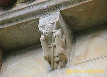 monasterio de san antolin de bedon llanes figuras - San Antolin de Bedon el monasterio