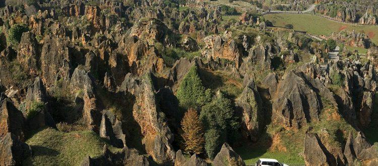 Parque de la Naturaleza de Cabarceno,vista aérea