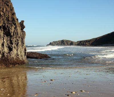 Playa de san Antolin de Bedon, en otoño