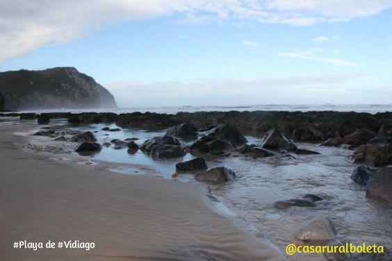 Una vista en Otoño de la Playa de Vidiago