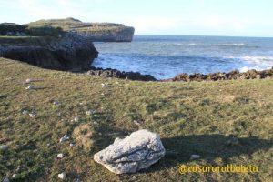 Playa de Buelna. Temporal en la Costa de Llanes Asturias