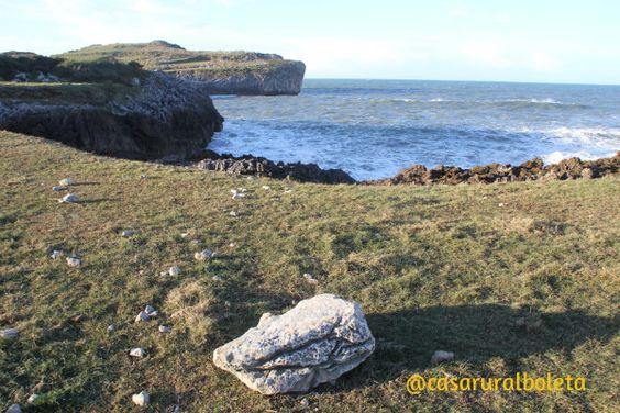 Playa de buelna temporal en la costa llanes asturias - Fotos Llanes