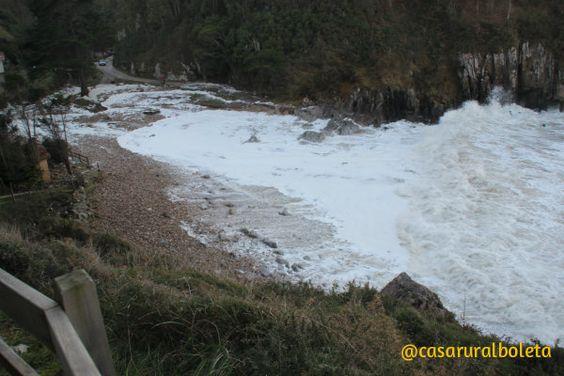 Playa de Vidiago. Fotos del Temporal en la Costa de Llanes