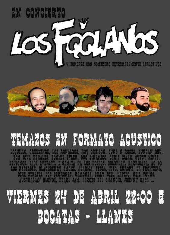 Concierto de los Foolanos en Bar Bocatas de Llanes