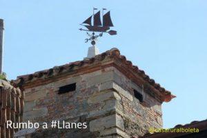 Palacio del Marques de Gastañaga en Llanes Asturias. Detalle de la Veleta