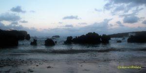 Temporal en la costa de Llanes, las fotos. Atardeceren la Playa de Toró