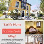 Oferta Mayo Casa Rural en Llanes. 50 euros, 4 personas