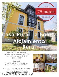 Casa Rural en Llanes Oferta mes de Julio Tarifa Plana